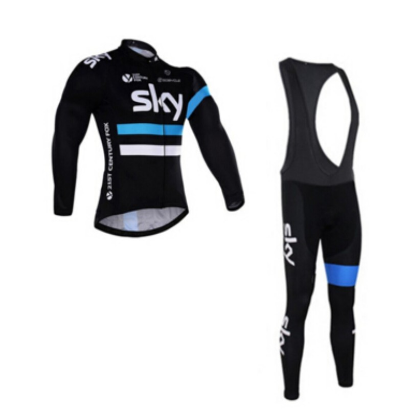 2016 team sky cycling clothing long sleeve cycling jersey thin quick-dry mountain bike clothes breathable bicycle sportswear(China (Mainland))