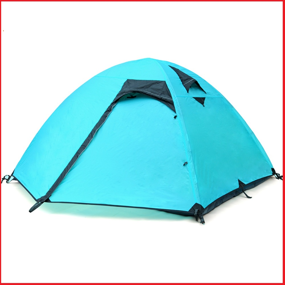 Free shipping 1pcs NEW Outdoor Camping Hiking Rainproof 3-4 person Double layer Family Folding Tent(China (Mainland))
