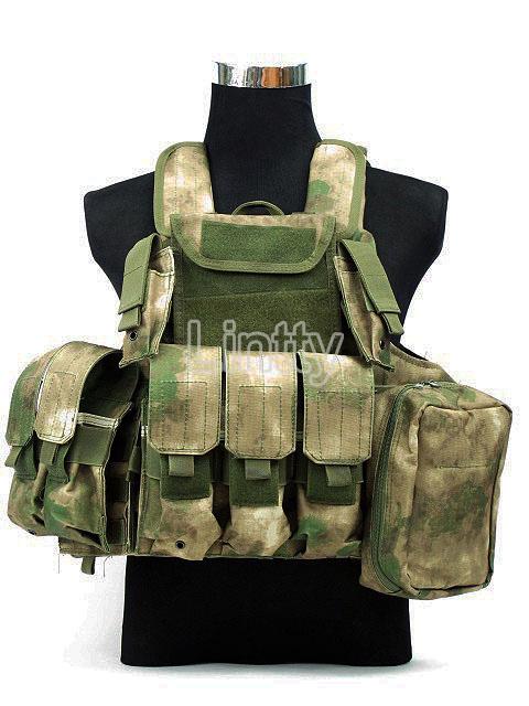Wargame Vest Molle Combat Strike Plate Carrier CIRAS Tactical Vest A-TACS FG Camo A-TACS AU Camo