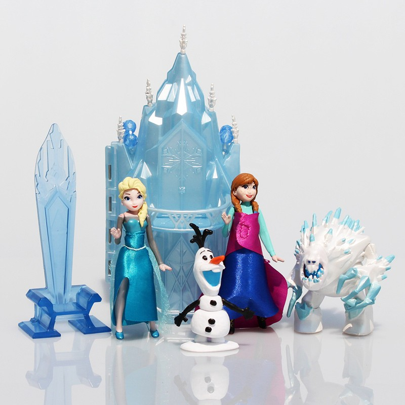 30sets/lot Princess Elsa Anna Ice Castle Palace Throne Play Set PVC Model Toys<br><br>Aliexpress