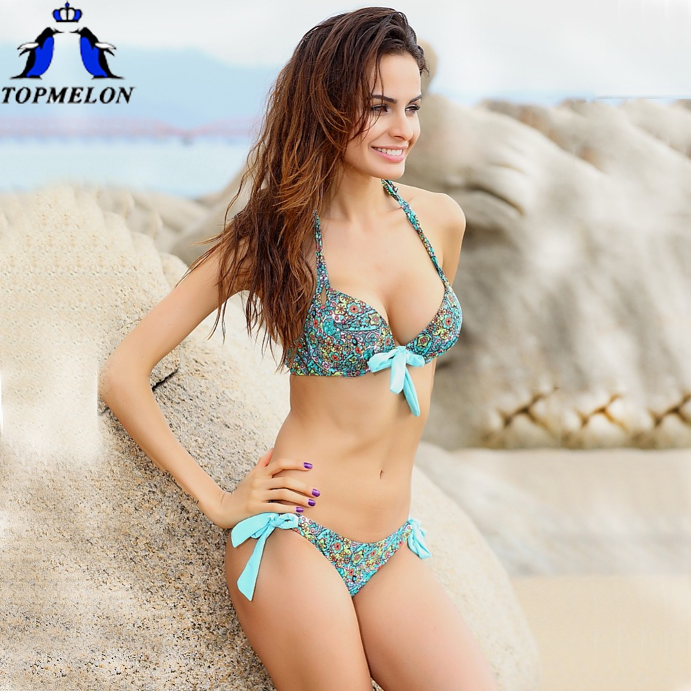 buy bikini push up bikini swimwear swimsuit women padded boho biquinis bikini. Black Bedroom Furniture Sets. Home Design Ideas
