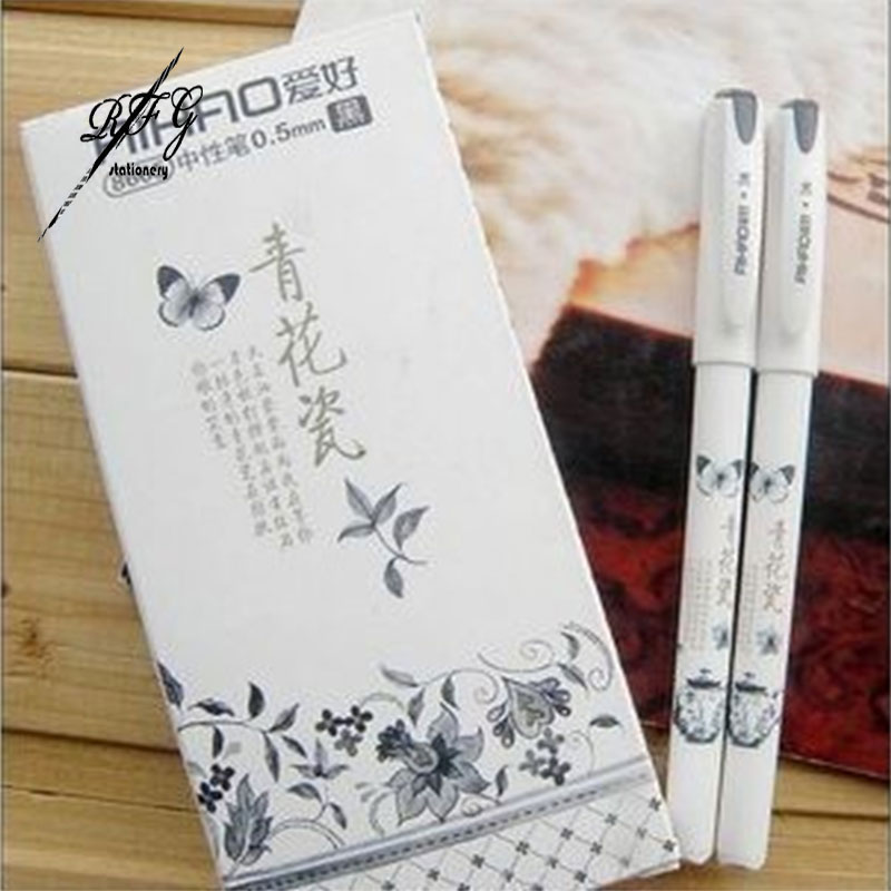 Vintage Retro Chinese Style Gel Pen Blue and white porcelain Stationery Office School Supplies Gift Free Shipping<br><br>Aliexpress