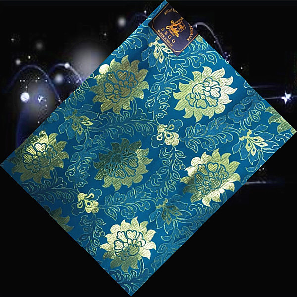 (SHT54-6 sea blue+gold),Fashionable design African sego head tie,hot sale embroidery sego gale,African sego headwear for ladies(China (Mainland))
