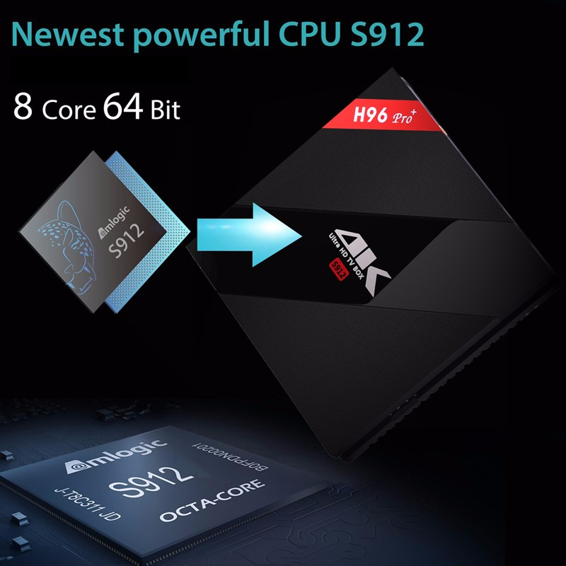 ถูก 3กรัม32กรัมAndroid 6.0กล่องทีวีAmlogic S912 Octaแกน2กิกะไบต์16กิกะไบต์H96 p ro 4พันสมาร์ทกล่องรับสัญญาณWifi BT4.1 3กิกะไบต์T V Boxรัสเซียi8อากาศเมาส์