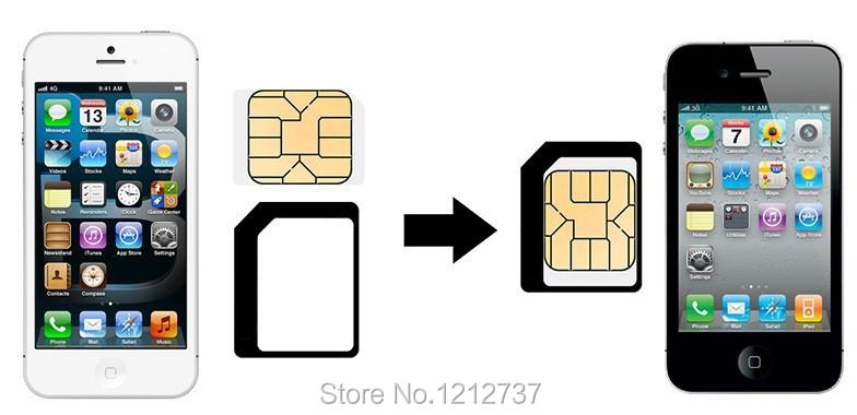 4 ב 1 ה Micro-Sim-מתאם נאנו-Sim-מתאם עבור apple iphone 4 4s 5 5s 5c עם הוצאת הסיכה מפתח חבילה הקמעונאי