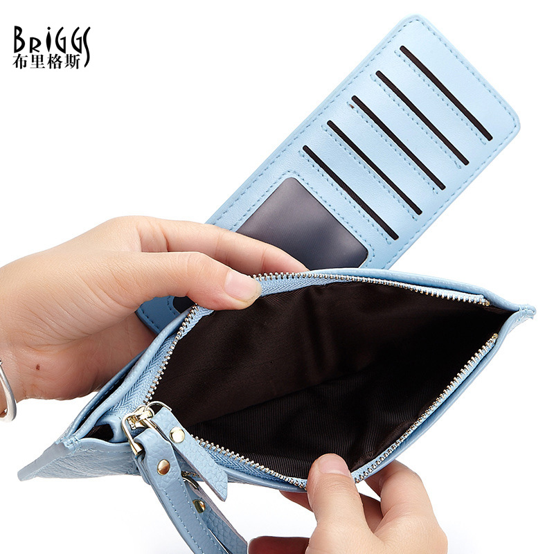 BRIGGS Fashion Clutch Bag Woman Bags Genuine Leather Women Clutch Wallet Cowhide Chains Women's Hand Bags,7 Card Holder.(China (Mainland))