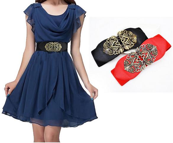 2015 NEW women belt fashion flower Carve Flower Wide Design Alloy Korean belts - Style Of Your Life store