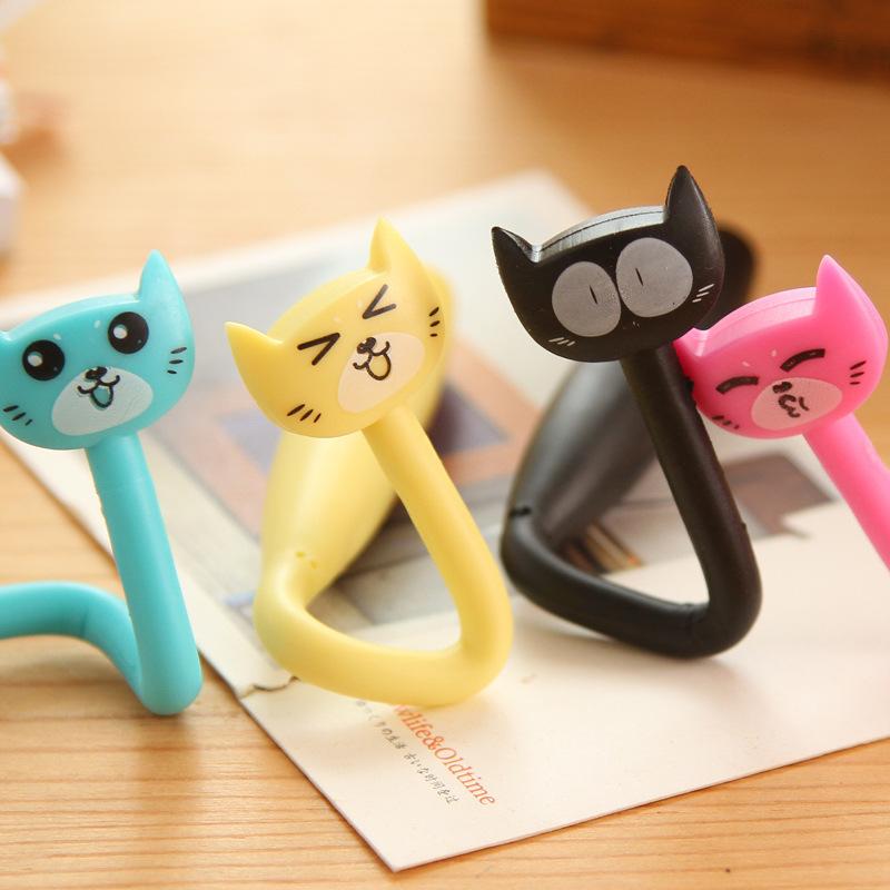 cat pen flexible - Ballpoint pen cute funny kawaii pens Novelty rollerball pen school supplies Office accessories -N34(China (Mainland))