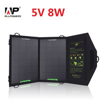 ALLPOWERS 5V 8W Foldable Solar Charger Outdoor Portable Solar Panel Charger for iPhone 5S 5 Tablets Samsung S4 S3 HTC(China (Mainland))