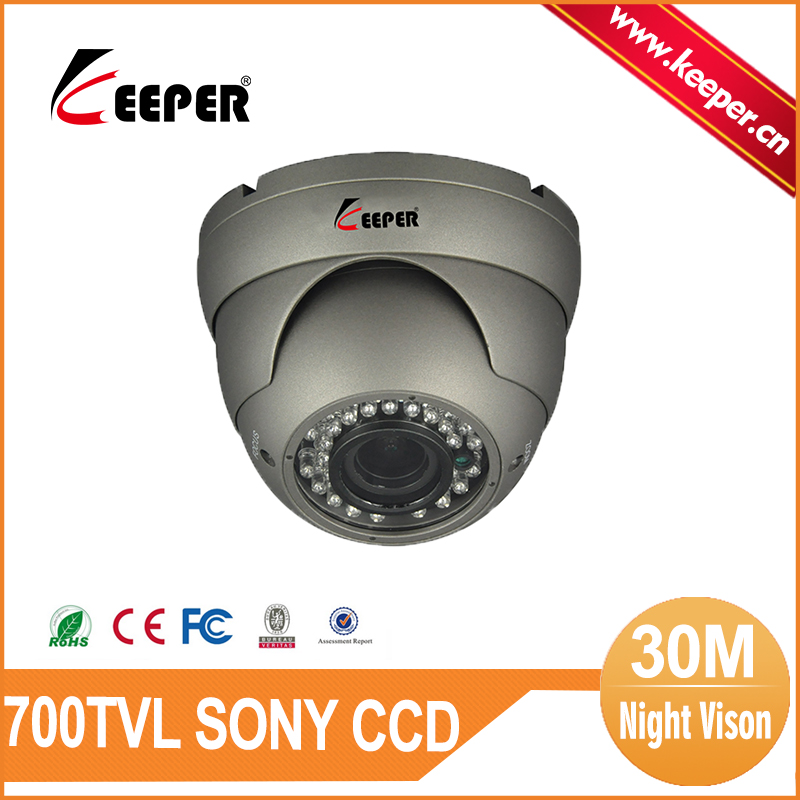 KEEPER Big Promotion Grey Color Security Camera Vandalproof 30M IR SONY CCD Camera Mini Dome 700TVL CCTV Camera(China (Mainland))