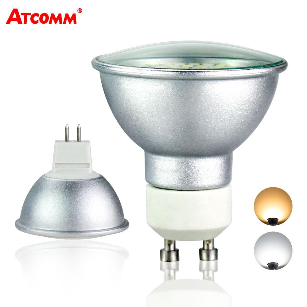 GU10 MR16 LED Spotlight Bulb 10-30V 110V 220V High Lumen 2835 SMD Chip 36 54 72 LEDs GU10 Ampoule LED Aluminum Light Flicker