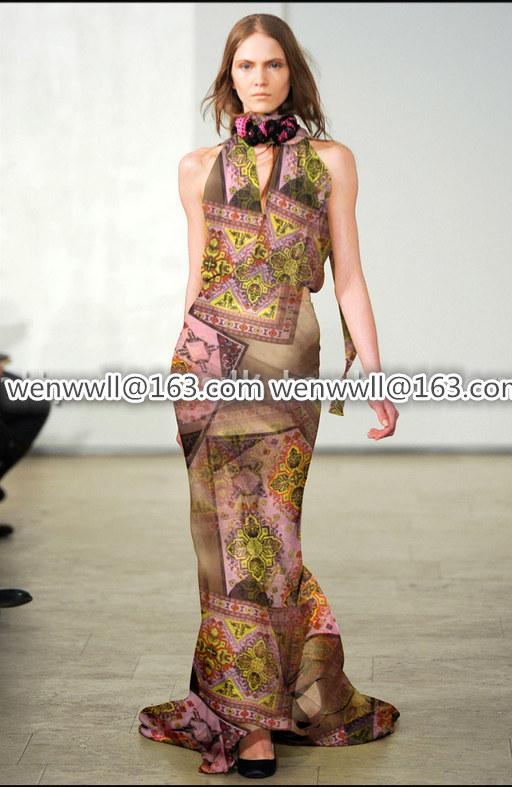 Designer 100% pure natural mulberry silk chiffon fabric pink and brown 1meter X015.2(China (Mainland))