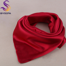 Solid Color Silk Scarf Female Summer All-match Single Nude Color Small Scarf Silk Scarf 60*60cm New Design Solid Square Scarves(China (Mainland))