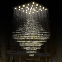 Modern Large engineering crystal chandelier penthouse villa property grade staircase crystal lamps Big Luxury Crystal Chandelier(China (Mainland))