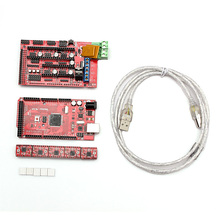 New Arrival One Kit 1.4 3D PRINTER CONTROLLER Mega 2560 And 5 A4988 Drivers And Heatsink for RAMPS REPRAP DIY Accessories