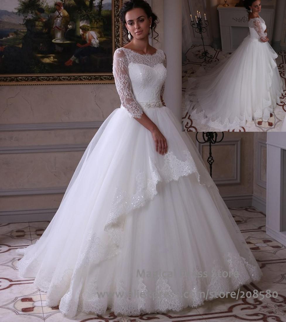 Robe de mari e princesse dentelle 2016 for Plus la taille seconde robes de mariage