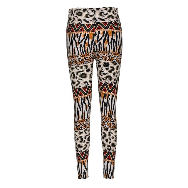 2016 Несколько стилей досуг повседневный фитнес цветок leopard поножи Кожа Да Кости Стройный сексуальная девушка граффити стиль высокой упругой леггинсы