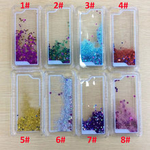 10PCS Fun Glitter Star Flowing Liquid Case For iPhone 5C Transparent Clear Back Case Cover Hard Plastic Cell phone cases,Bags(China (Mainland))