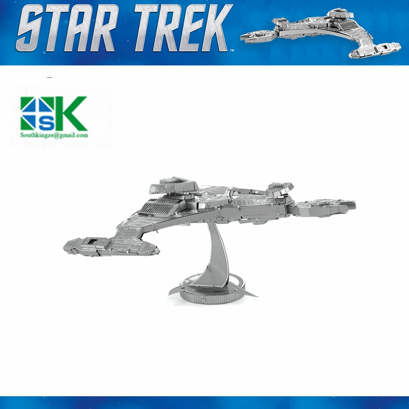 Supper Challenge Puzzle Star Trek KLINGON VORCHA 3D metal puzzle model nano 2 Sheets Wholesale price Stainless steel DIY Cr Free(China (Mainland))