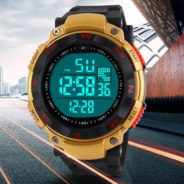 2015 NEW Brand Men Sports Watches Digital LED Military Watch Swim Alarm Outdoor Casual Wristwatches Men's Fashion Clock(China (Mainland))