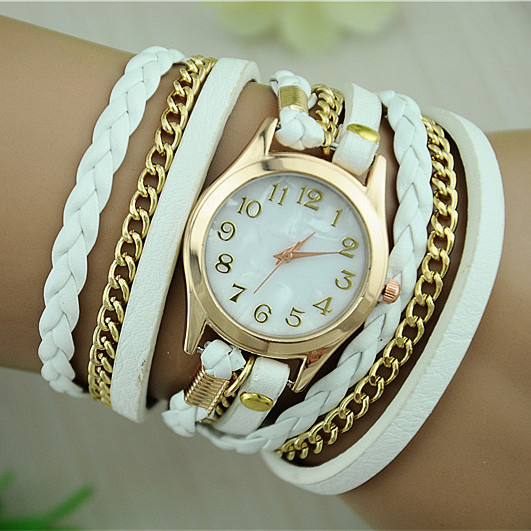 Leather Strap Quartz Watches Gold Dial Women Dress Watches Reloj Mujer 2015 Hot Selling relogio feminino BW-SB-1071(China (Mainland))