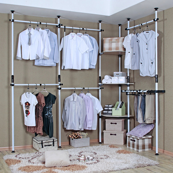 Simple hanger combination wardrobe simple wardrobe clothes storage cabinet Large folding furniture