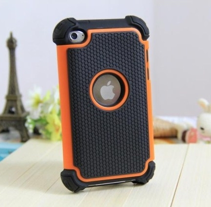 Armor Heavy Duty Hard Case For iPod Touch 4 4G Silicone Protective Skin ShockProof Cover(China (Mainland))