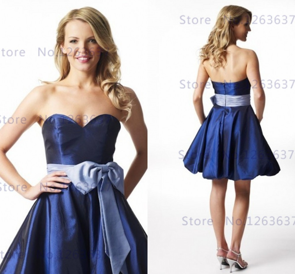 Royal blue bridesmaid dress sexy sweetheart mini short for Royal blue short wedding dresses
