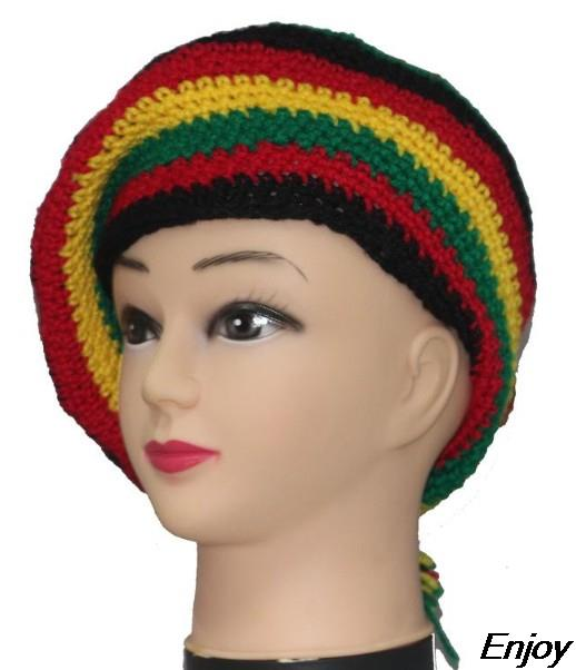Wholesale New Winter Hats Handmade Knitted Wool Cap Rasta Hat Beanie ...