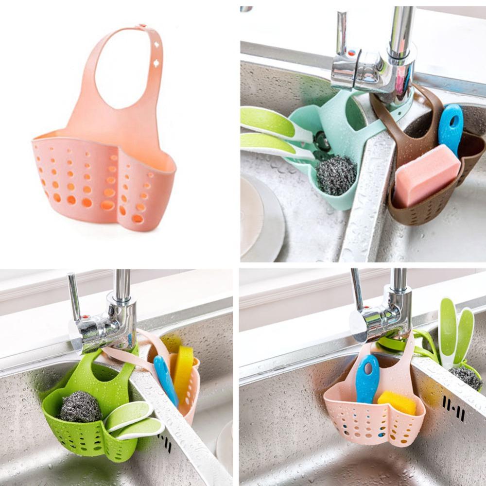 Hanging Drain Bag Basket Bath Storage Gadget Tools Sink Holder Shelves Soap Holder Kitchen Dish Cloth Sponge Holder Storage(China (Mainland))