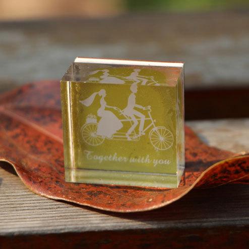 Diy photo album  handmade lace square crystal stamp 6syle