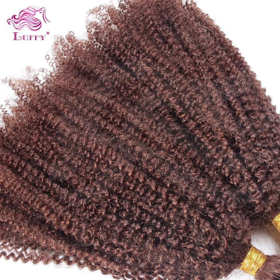 1Pc/Lot Wholesale Best 7A No Weft Bulk Virgin Human Hair Color #33 Afro Kinky Curly Virgin Bulk Hair For Braiding 10″-30″ Onsale