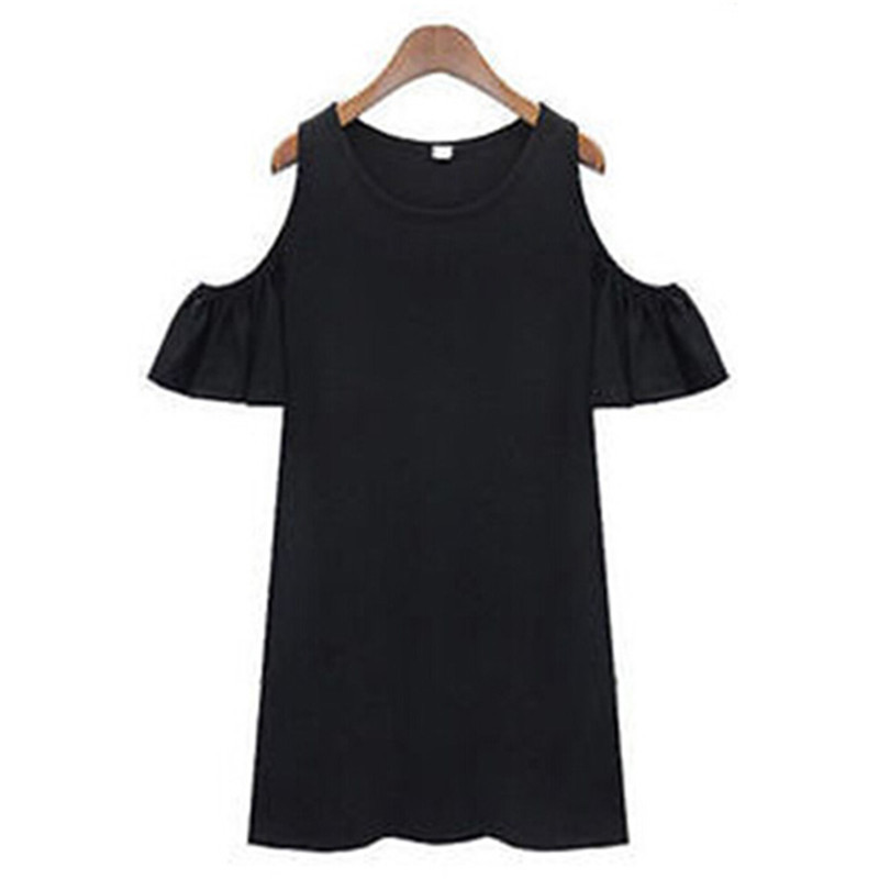 Women Summer Vintage Off Shoulder Long Blouse Tops Shirt Mini Dress(China (Mainland))