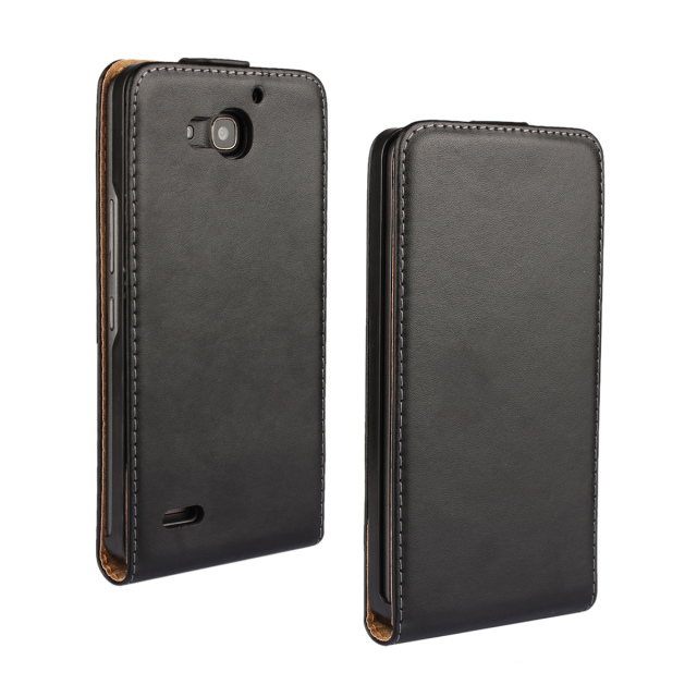 Genuine Leather Case for Huawei Honor 3X With Magnetic Flip Leather Cover for HuaWei Honor 3X(China (Mainland))