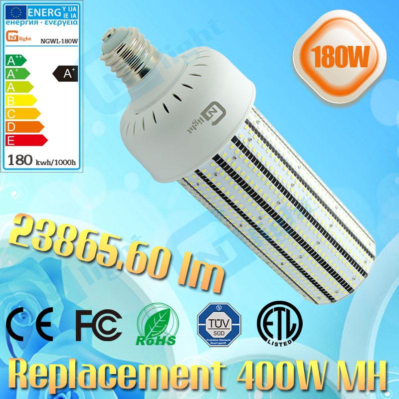 400W high pressure sodium lamps replacement retrofit LED gym lighting 180W E40 E27 mogul base(China (Mainland))