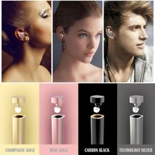 K1 Lipstick Wireless Bluetooth V4.1 Headset Stereo In-Ear Earphone Earbuds Fashion Headphones Mic Handsfree with Charging Box(China (Mainland))