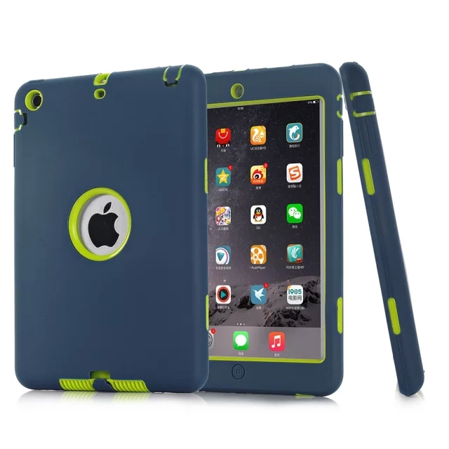 New Version Hybrid Armor Silicon Shockproof Dustproof Kids Safe Stand Case Cover For ipad mini 1/2/3 Shell(China (Mainland))