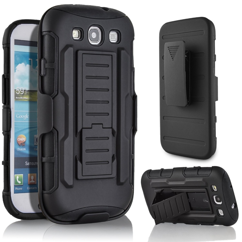 Shockproof Hard Armor Case for coque Samsung Galaxy S3 Case Cover i9300 for Galaxy S3 Case Cover + Belt Clip Holster(China (Mainland))