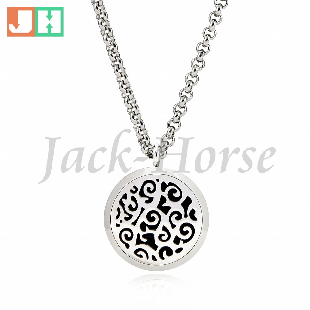 316L Stainless Steel Essential Oil Diffuser Necklace Pendant Perfume Pendant Necklace Aromatherapy Pendant Necklace Locket(China (Mainland))
