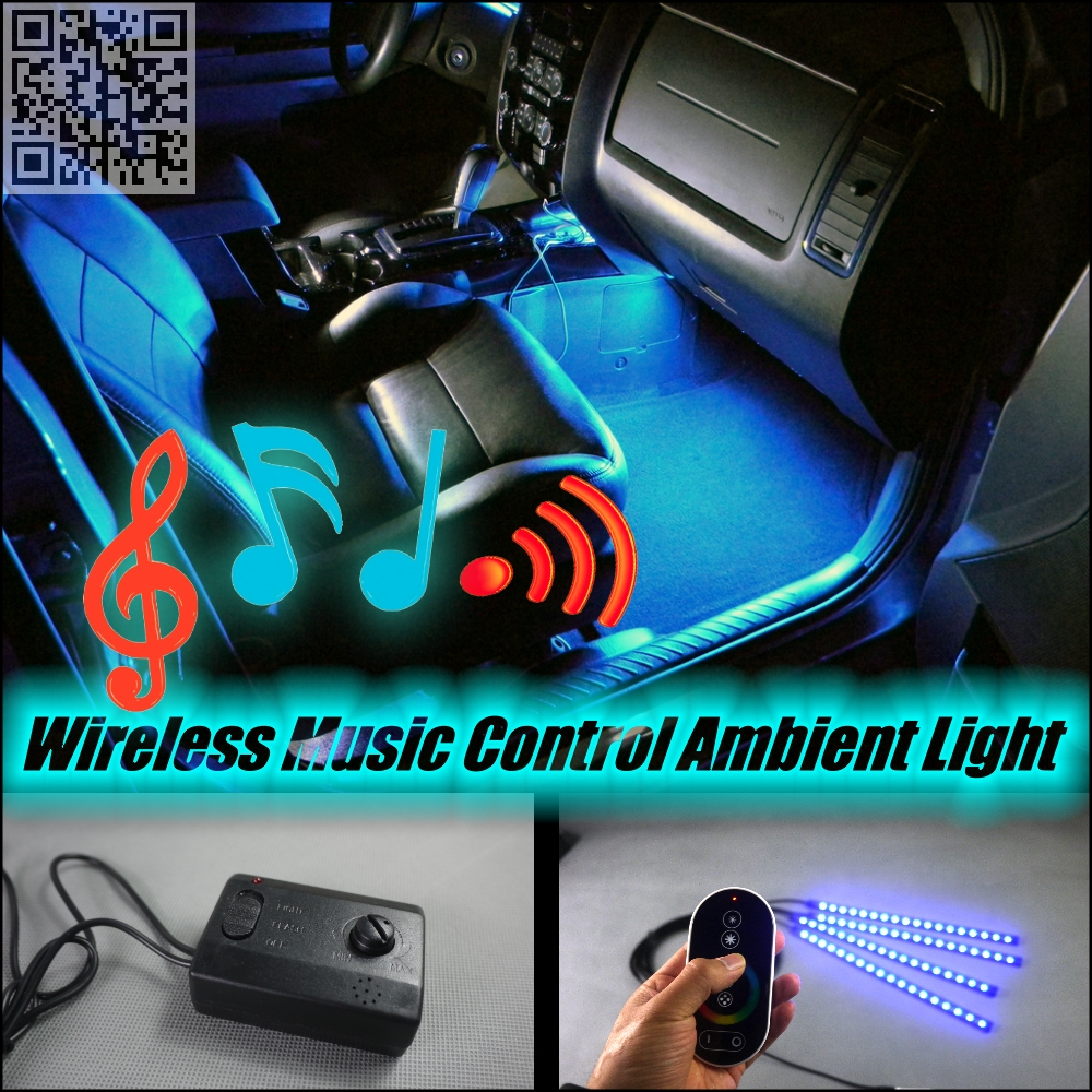 For Volvo XC60 2008~2016 Wireless Control Color Neon Glow Interior Under Dash Footwell Decorative Atmosphere Seat Accent Light(China (Mainland))