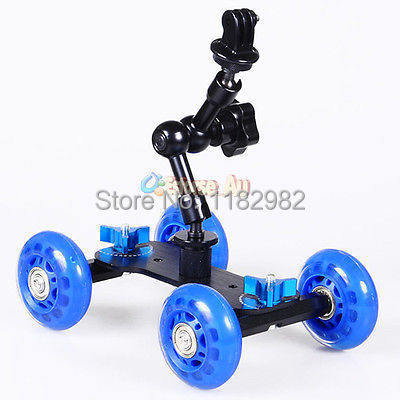 Exempt postage EMS 3 in 1 7Magic Arm + Blue Dolly Skater Truck Car  Camera Truck Car  +Tripod Mount Adapter For GoPro 3+ 3 2 1 <br><br>Aliexpress