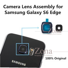 Buy 2Sets 100% Original Samsung Galaxy S6 Edge Glass Camera Lens+Lens Cover Replacement Part Adhesive Sticker for $4.76 in AliExpress store