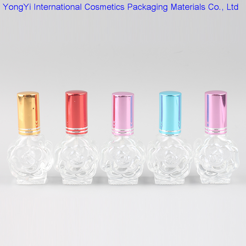 Hot Retail 12ml Peony Glass Roll On Empty PErfume Bottle mini Parfums Parfume Essential Oil Maquiagem Empty Cosmetic Containers(China (Mainland))