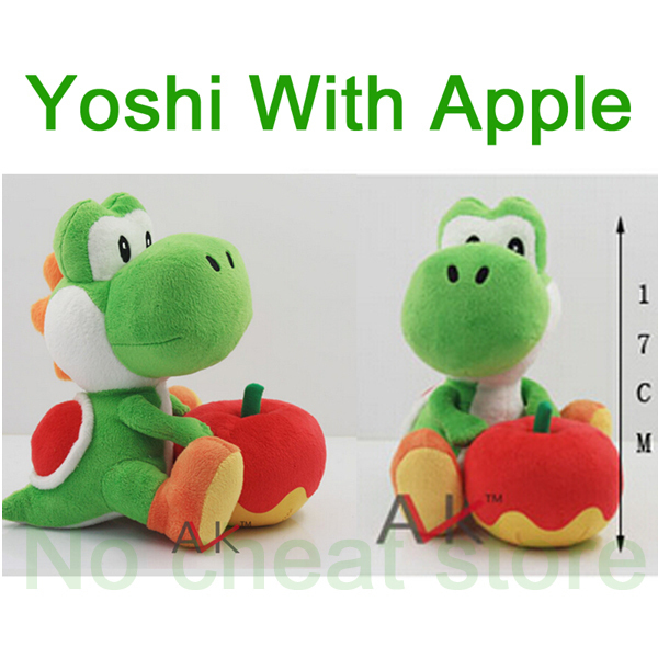 "Drop shipping 17cm Super Mario plush toys 6"" mario figure yoshi toy plush doll Free shipping(China (Mainland))"