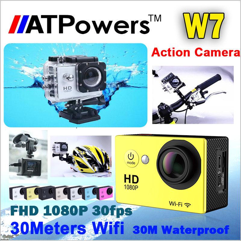 Action Camera W7 1080P/30fps 1.5 inch LCD 140D lens go pro camera Sport Waterproof Helmet Cam Underwater 30M Not sj 4000(China (Mainland))