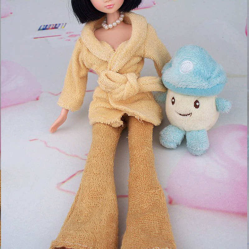 Youngsters Present Doll Equipment Bathrobe For Barbie Lavatory Winter Pajama Sleeping Put on Informal Garments For Barbie Doll Home Toy