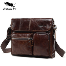 CROSS OX New Wax Leather Series Messenger Bag For Men Bag Genuine Leather Shoulder Bags Cross Body Bags Vintage Satchel SL395M(China (Mainland))