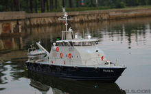 1/30 RC Model boat / Police Fire boat / Simulation of scale tug / Electric remote control boat(China (Mainland))