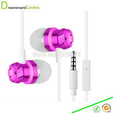 Kids Adults Earphones with Inline Universal Microphone for Iphone Samsung Tablet Laptop PC Android and MP3 MP4 Devices Rose Red