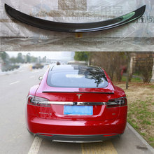 Buy Car Accessories Glossy black Carbon Fiber rear trunk wing Spoiler For Tesla Model S 85 P85D 2012 2013 2014 2015 2016 for $137.51 in AliExpress store
